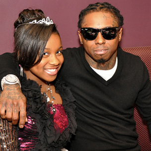 Lil Wayne Recording Music with Daughter Reginae