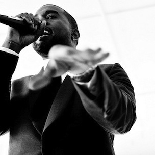 Kanye West Performs During Gil Scott-Heron's Memorial Service