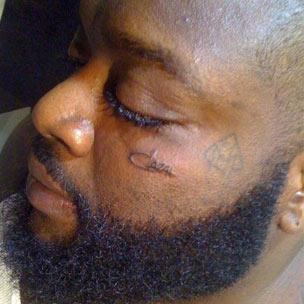 Rick Ross Gets Cazal Logo Face Tattoo Hiphopdx