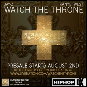 Watch The Throne Ticket Giveaway