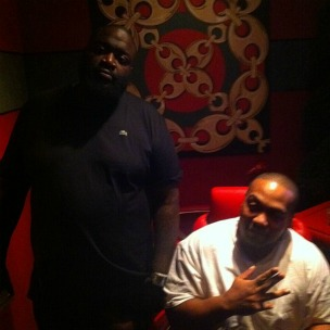 Rick Ross Recording With Timbaland, Speaking With Dr. Dre