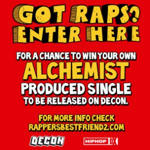 """Alchemist's Rapper's Best Friend 2 'Got Raps' Contest"""