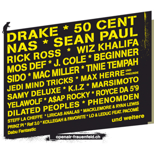 Drake, 50 Cent & Nas To Headline 2012 Openair Frauenfeld Festival