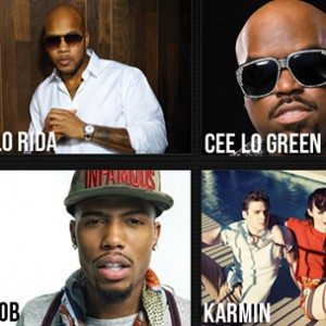 "B.o.B, Cee Lo Green & Flo Rida Announce ""R You On The List"" Tour"
