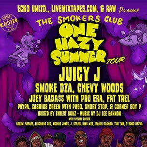 "Juicy J To Headline The Smokers Club's ""One Hazy Summer"" Tour, Features Smoke DZA"