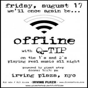 """Q-Tip """"Offline"""" Party Ticket Giveaway"""