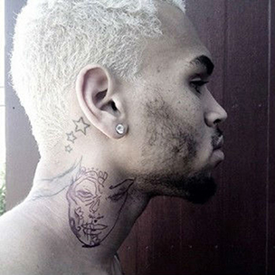 Chris Brown's Publicist Says Neck Tattoo Depicts MAC Cosmetic Design