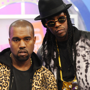 Kanye West Freestyles, Brings Out 2 Chainz At Samsung Event