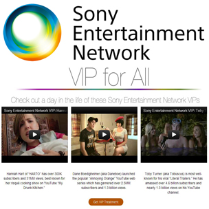 Sony Entertainment Network VIP FOR ALL Giveaway