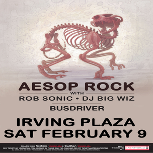 Aesop Rock Concert Ticket Giveaway