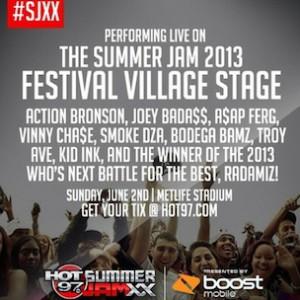 Joey Bada$$, Action Bronson, Others On HOT 97 Summer Jam Festival Village Bill