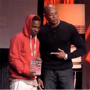 Dr. Dre - Kendrick Lamar ASCAP Vanguard Award Presentation