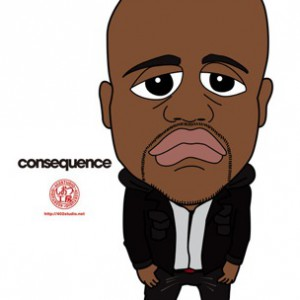 Kanye West f. Consequence  - Black Skinhead Remix