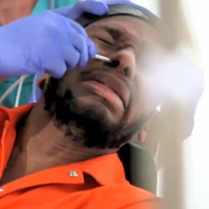 Yasiin Bey Demonstrates Force Feeding Procedure Used At Guantanamo Bay
