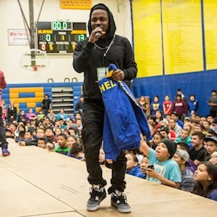 Kendrick Lamar Visits Alaska School With Get Schooled Foundation
