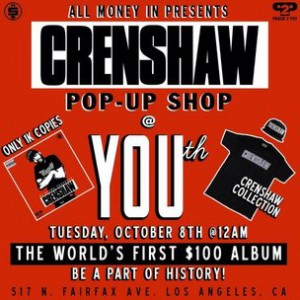 "Nipsey Hussle Charging $100 For ""Crenshaw"" Mixtape"