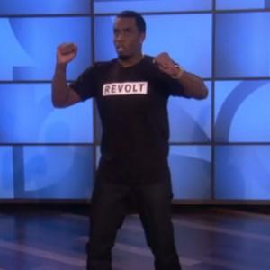 """Diddy - Twerks On """"The Ellen Show"""""""
