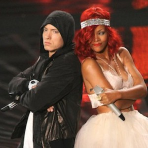 "Eminem & Rihanna Film ""The Monster"" Video"