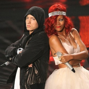 "Eminem & Rihanna Film ""The Monster"" Video"