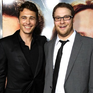"James Franco & Seth Rogen Spoof Kanye West's ""Bound 2 ..."