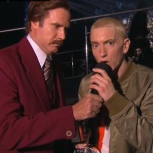 Eminem - Meets Ron Burgundy At 2013 MTV EMA