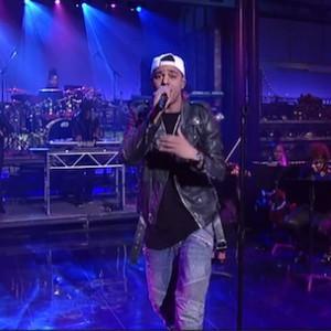 "J. Cole - ""Crooked Smile"" (Live On David Letterman)"