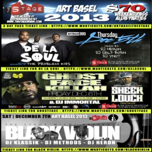 "De La Soul x Ghostface Killah ""Art Basel"" Ticket Giveaway"