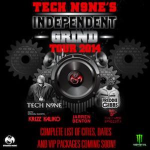 """Tech N9ne Announces """"Independent Grind Tour 2014"""" Dates"""