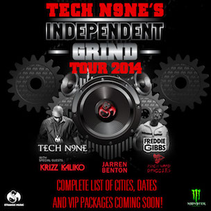 "Tech N9ne Announces ""Independent Grind Tour 2014"" Dates"