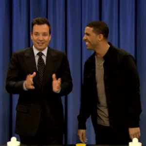 "Drake - Plays Air Hockey, Chugs Beer On ""Late Night with Jimmy Fallon"""