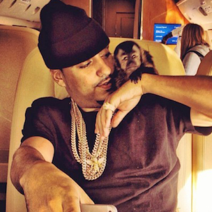 "French Montana Says He Owns A Pet Monkey ""Like Michael Jackson"""