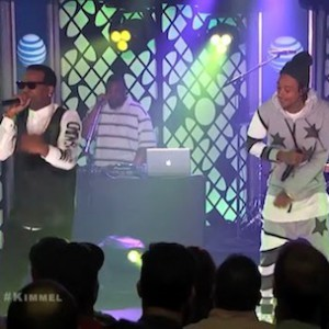 "Juicy J & Wiz Khalifa - ""Talkin Bout"" & ""Bounce It"" (Live On Jimmy Kimmel)"