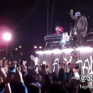 """ScHoolboy Q & Kendrick Lamar - Perform """"Collard Greens"""" At LA Pop-Up Show"""