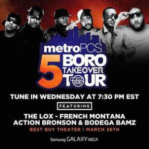 "Lox, French Montana & Action Bronson ""5 Boro Takeover Tour"" Concert Stream"