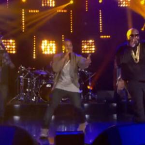 "Rick Ross, Kanye West & Big Sean - ""Sanctified"" (Arsenio Hall Performance)"