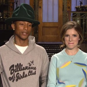 Pharrell - In SNL Promo With Anna Kendrick