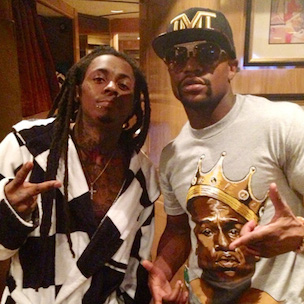 Lil Wayne Confronts Marcos Maidana's Trainer Following Floyd Mayweather Fight