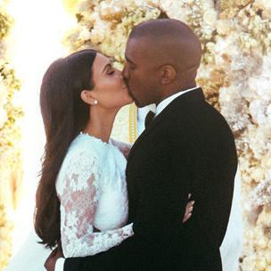 Kanye West, Kim Kardashian Release Wedding Photographs