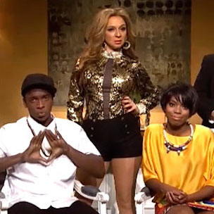 "Jay Z, Beyonce & Solange Knowles Spoofed On ""Saturday Night Live"""
