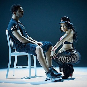 "Nicki Minaj Details Drake's ""Anaconda"" Video Shoot Lap Dance Reaction"