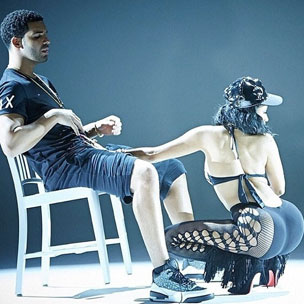 Instagram Flexin': Nicki Minaj Gives Drake A Lap Dance