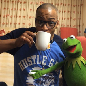 Instagram Flexin': T.I. Sips Tea With Kermit But That's None Of Our Business