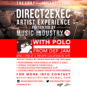 """""""Direct 2 Exec"""" Artist Experience Giveaway"""