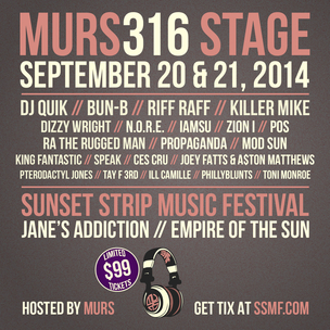 Sunset Strip Music Festival x MURS 316 Ticket Giveaway