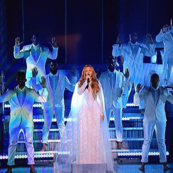 "Beyonce Performs ""Take My Hand, Precious Lord"" At 2015 Grammy Awards"
