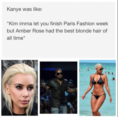 KimKAmberRoseKanye all eyez on memes drake takes advantage of chris brown baby drama