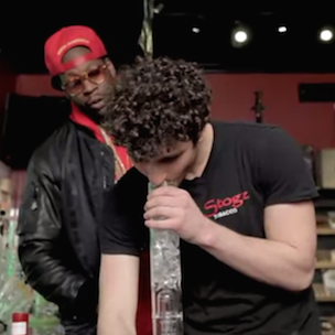 2 Chainz Smokes Out Of $10,000 Bong