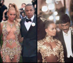 All eyez on memes beyonce rihanna s met gala dresses for Coming to america wedding dress