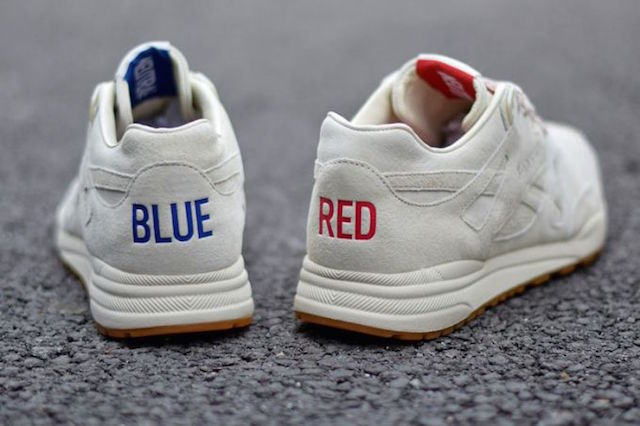 Blue And Red Reebok Shoes