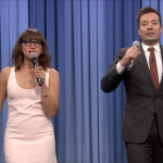 "Watch Jimmy Fallon & Rashida Jones Spoof ""BBHMM,"" ""Hotline Bling,"" ""Can't Feel My Face"" & More"